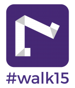 #walk15 logotipas